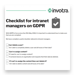 intranet managers gdpr checklist