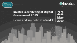 Invotra is exhibiting at DIgital Government 2019 Come and say hello at stand 1 22 May 2019