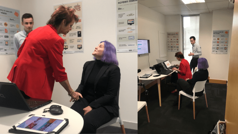 anne milton and leonie watson visiting the Invotra office