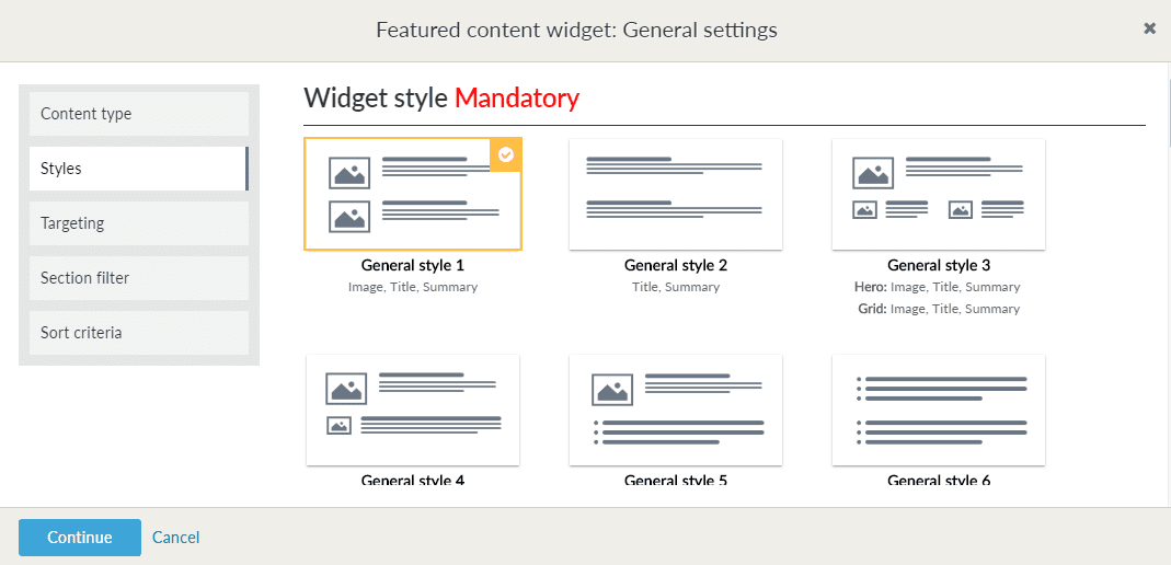 Widget style library options