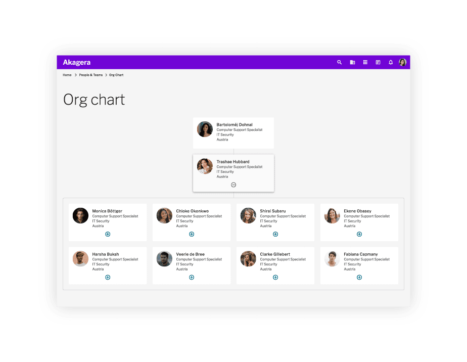 People Directory - Org chart page