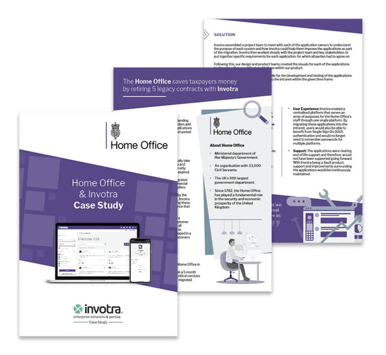 Home Office Case Study pages